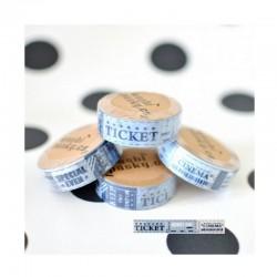 scrap - Washi páska - Vintage - Modrá vstupenka do kina