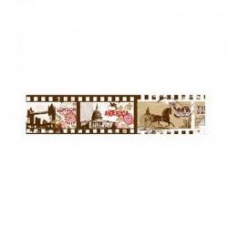 scrap - Washi páska - Vintage - Paříž, Londýn, Řím...