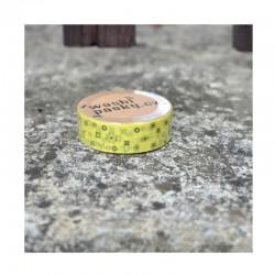 scrap - Washi páska - Žlutá s motivy
