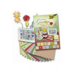 Sada kreativních papírů - Motivy zahrady