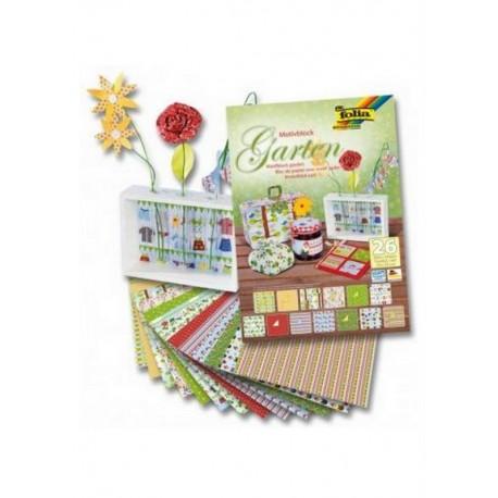 scrap - Sada kreativních papírů - Motivy zahrady