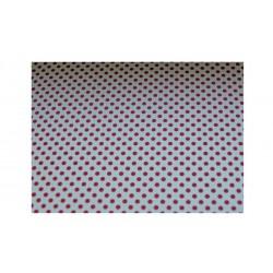Barevný papír s tečkami - bílo - červený