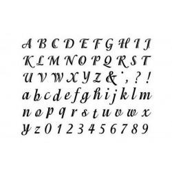 scrap - Razítka - Abeceda - Písmenka a čísla psací