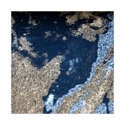 Mramorový papír - černý se stříbrným a zlatým mramorováním