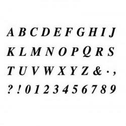 scrap - Razítka - Velká písmenka a čísla