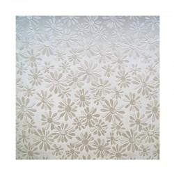 scrap - Matalízové papíry - Kytičky - smetanový