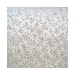 scrap - Matalízové papíry - Kytičky - stříbrný