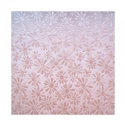 scrap - Matalízové papíry - Kytičky - růžový.