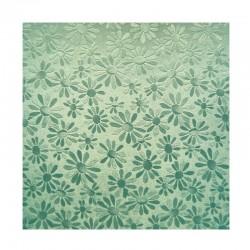 scrap - Matalízové papíry - Kytičky - zelené