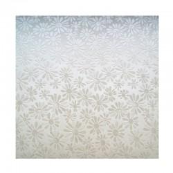 scrap - Matalízové papíry - Kytičky - bílé