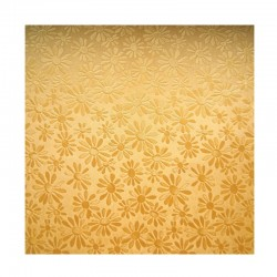 scrap - Matalízové papíry - Kytičky - zlaté