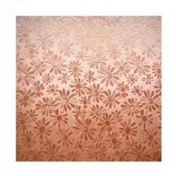 scrap - Matalízové papíry - Kytičky - hnědé (měděné)