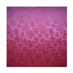 scrap - Matalízové papíry - Kytičky - červené (bordó)