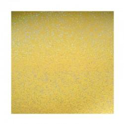 scrapbook - Papír se třpytkami - žlutý