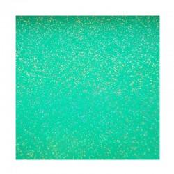 scrapbook - Papír se třpytkami - zelený