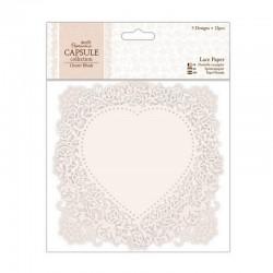 Krajka papírová perleťová - 12ks- Capsule - Oyster Blush