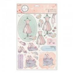 Sada papírů a výřezů - Bellisima - šaty