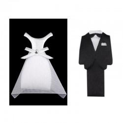 Textilní ženich a nevěsta