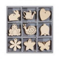 Dřevěné dekorace - Zajíc, šnek, motýl....
