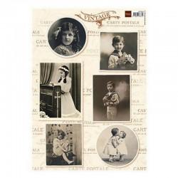 Fotopapír Vintage děti 1.