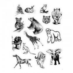 Razítka - Zvířata - medvěd, slon, liška, kůň....