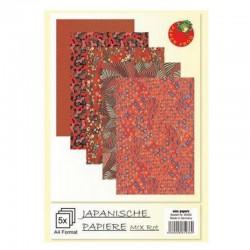 Ruční japonský papír - Červený