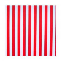 Papíry s proužky - Červeno - bílé