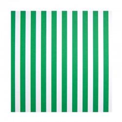 Papíry s proužky - Zeleno - bílé