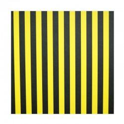 Papíry s proužky - Černo-žlutý