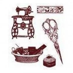 Razítka - Šicí stroj, nůžky.....