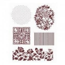 Razítka - Pozadí - květiny