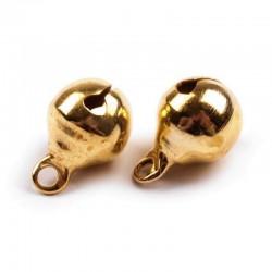 Rolničky 6mm, 20ks - zlaté