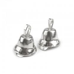 Zvonečky 7x11mm, 10ks - stříbrné