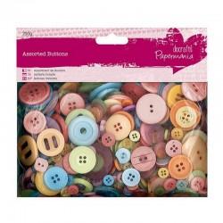 Knoflíčky - mix - 250g - Jasné barvy
