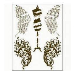 scrap - Razítka - Motýlí křídla, krejčovská panna