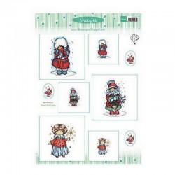 List A4 s obrázky - Snoesjes - Vánoční