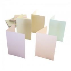 Blahopřání a obálky - 50ks - PERLEŤOVÉ - pastelové - A6