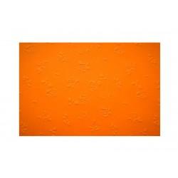 Embosované papíry - růžičky oranžové