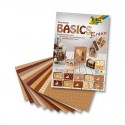 Sada kreativních papírů - Basics hnědá - 30ks.