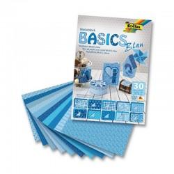 Sada kreativních papírů - Basics modrá - 30ks.