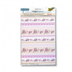 Sada Washi Tape papírů - A4 - Růže