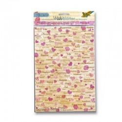 Sada Washi Tape papírů - A4 - Romantika