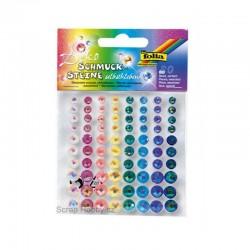Samolepící kamínky - Mix barev - 80ks