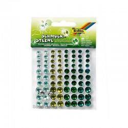 Samolepící kamínky - Zelené - 80ks