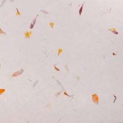 Hedvábný papír s květinami - pestrobarevný