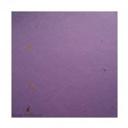 Hedvábný barevný papír s květinami - 4 - fialový