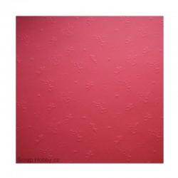 Embosované papíry - Andílci - 2 - červené