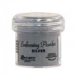 Scrapbooking - Embossing Powder - stříbrný