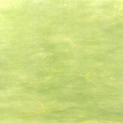 Hedvábný papír se zlatými nitkami světle zelený