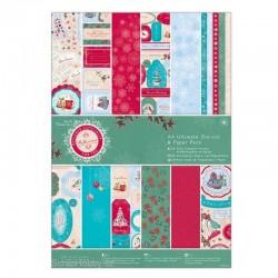 Sada papírů a výřezů - Ultimate A4 - 48ks - Bellisima Christmas